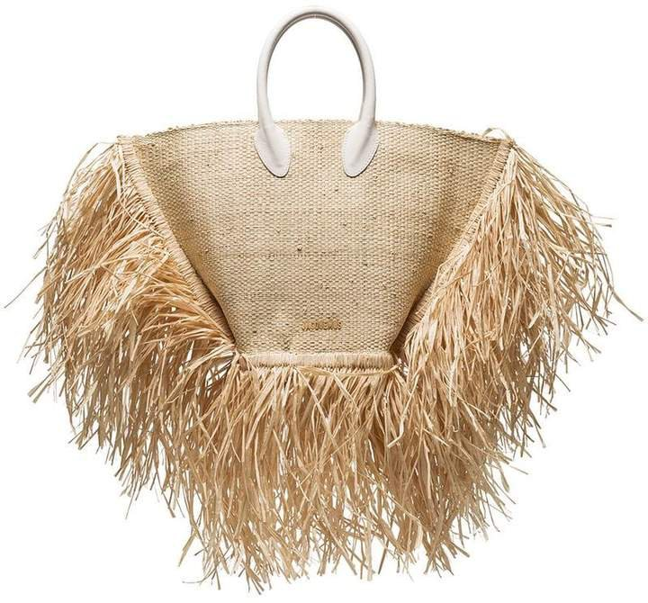 Le Baci straw basket bag
