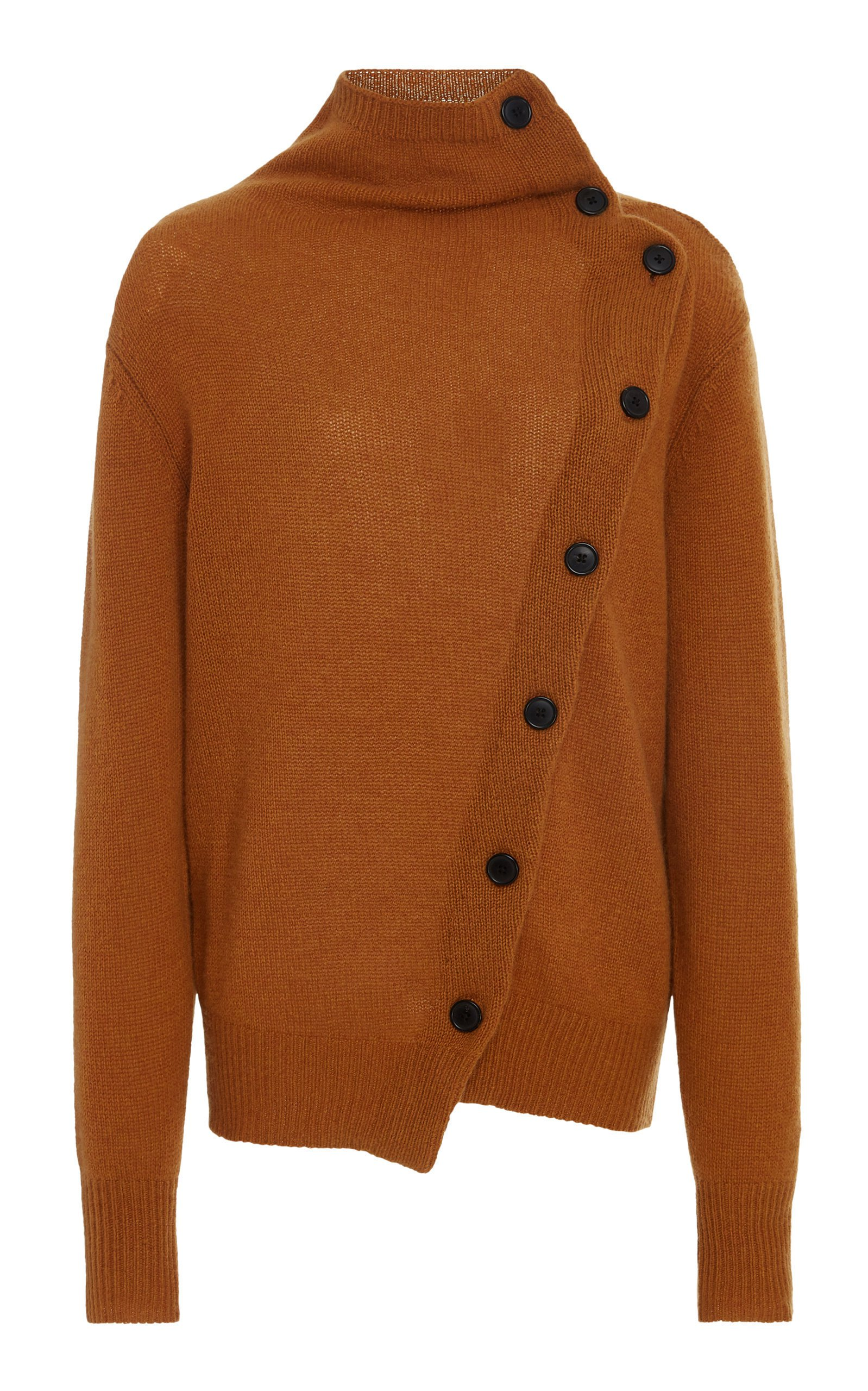 Isabel Marant Chass Button-Detailed Cashmere Turtleneck Sweater