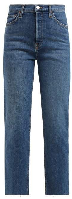 Re/Done Originals Re/done Originals - Stovepipe High Rise Straight Leg Jeans - Womens - Blue