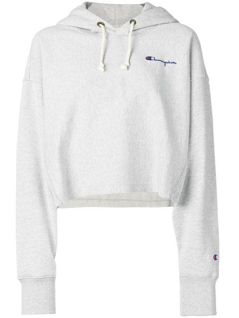 Champion logo print cropped hoodie $104 - Shop SS19 Online - Fast Delivery, Price