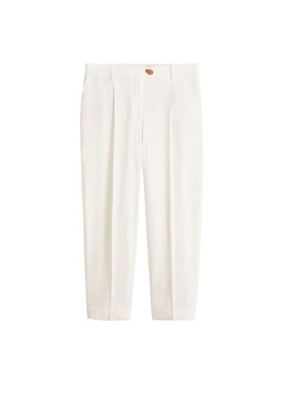 Violeta BY MANGO Pleat straight trousers