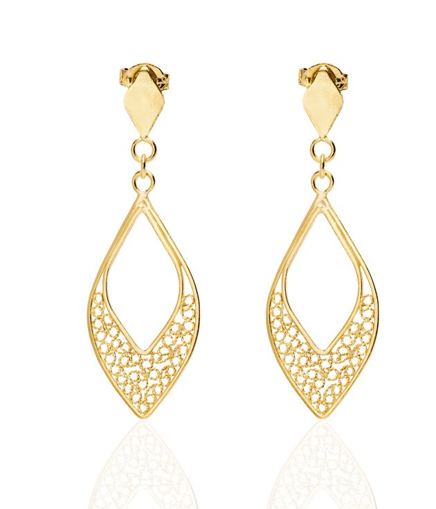 gold earrings - Google Search