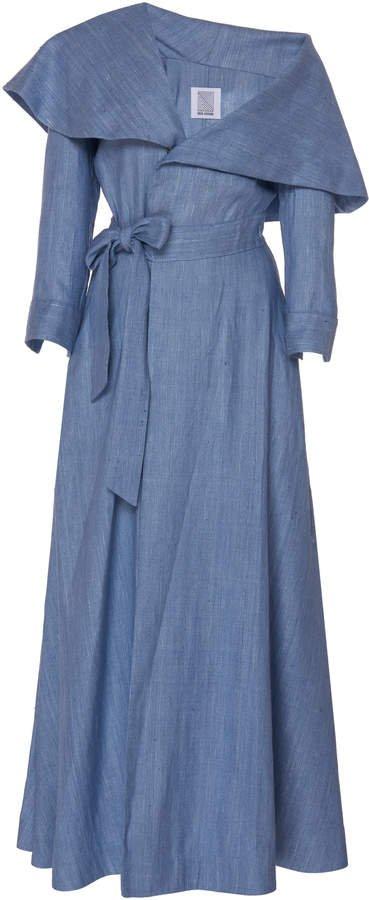 October Belted Silk Dress