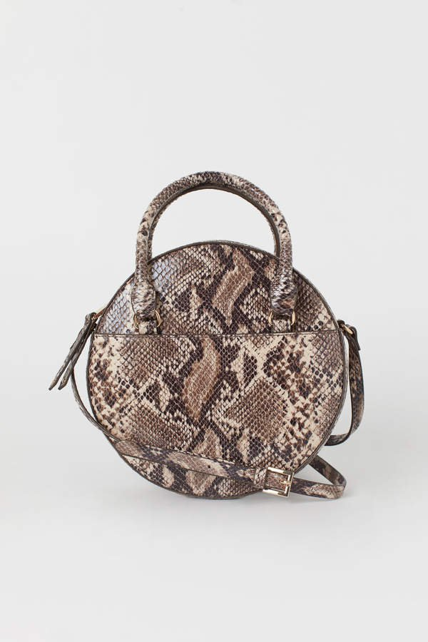 Round Shoulder Bag - Beige