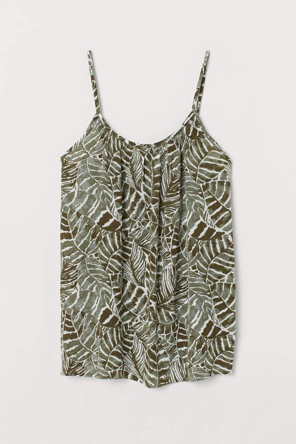 Crinkled Camisole Top - Green