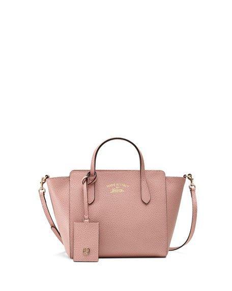 Gucci Swing Mini Crossbody Bag, Light Pink