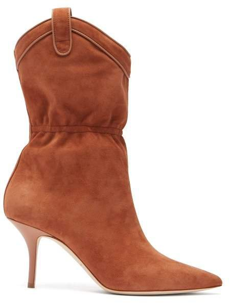 Daisy Suede Ankle Boots - Womens - Tan