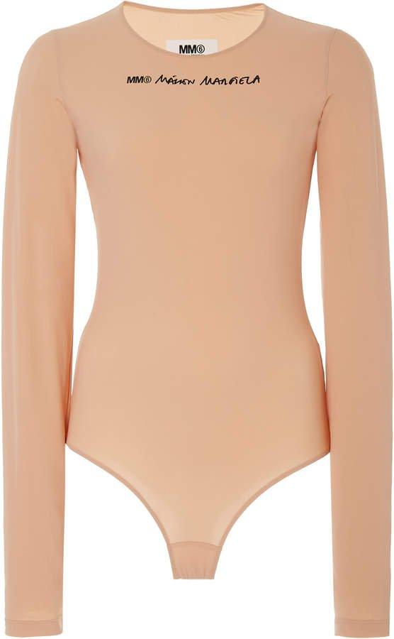 Logo Long-Sleeve Jersey Bodysuit