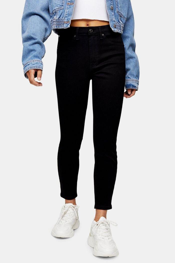 PETITE Pure Black Jamie Skinny Jeans | Topshop