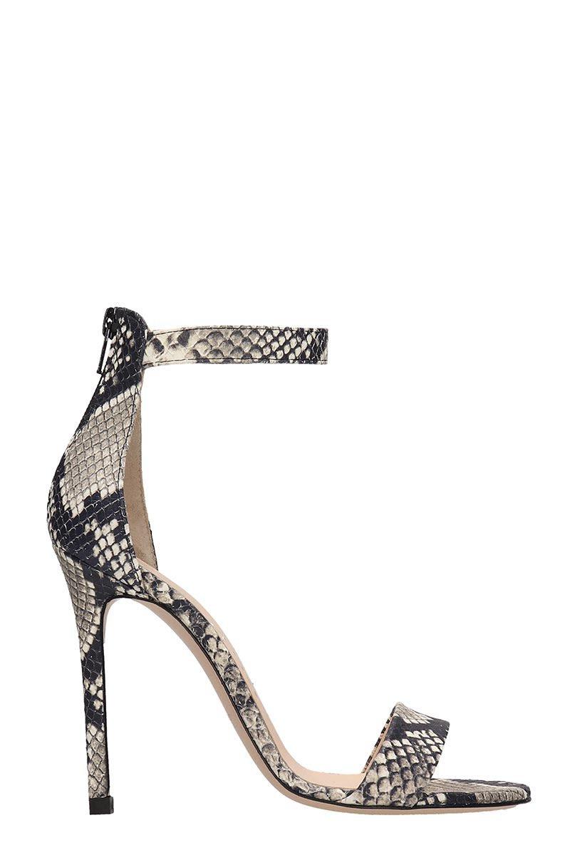 Marc Ellis Snake Print Leather Sandals