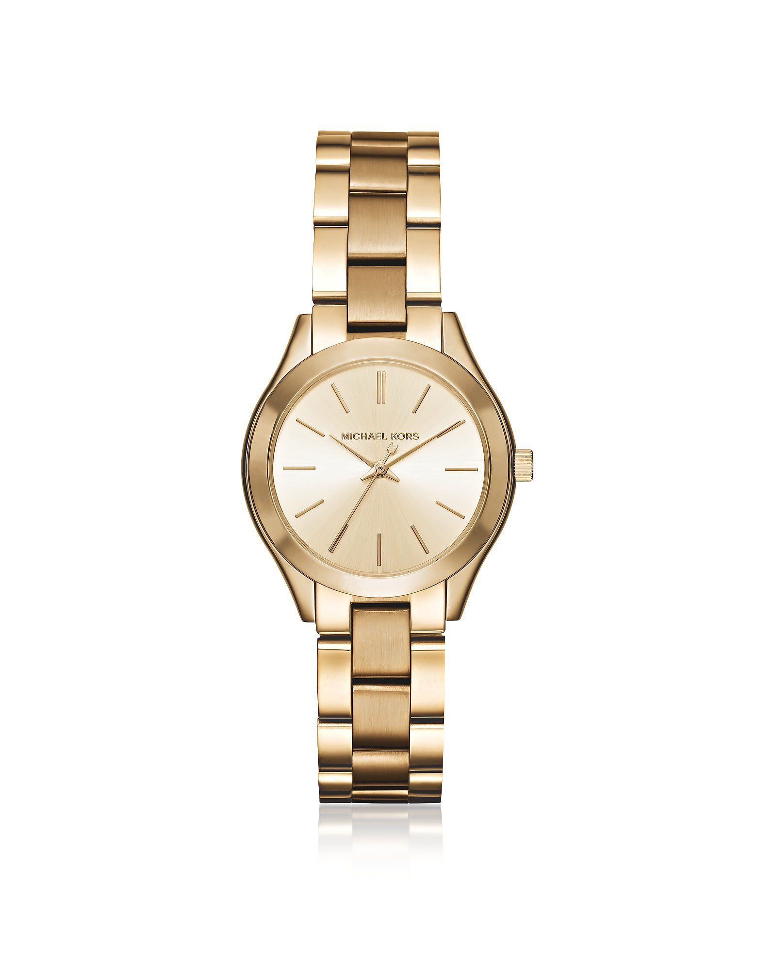 Michael Kors Mini Slim Runway Gold Tone Womens Watch
