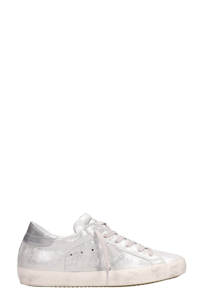 Philippe Model Paris Metal Silver Sneakers