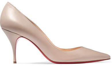 Clare 80 Leather Pumps - Beige
