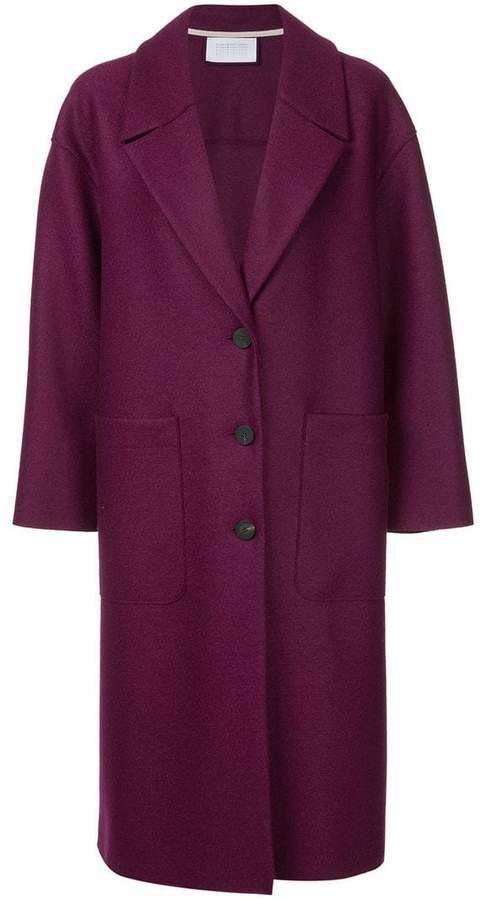 oversized patch pocket coat