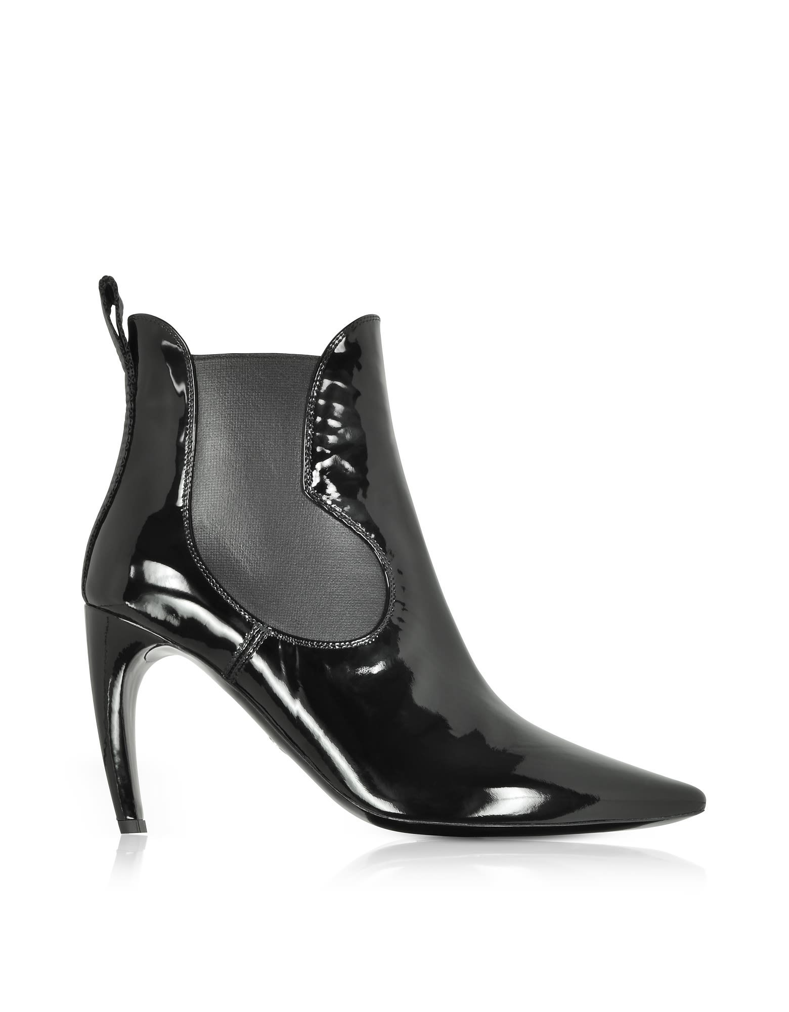 Proenza Schouler Black Patent Leather Boots