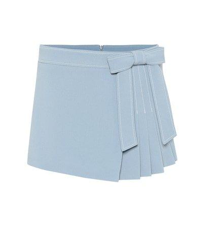 Stretch cady crêpe shorts