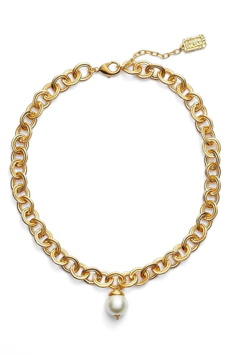 Karine Sultan Short Imitation Pearl Collar Necklace | Nordstrom