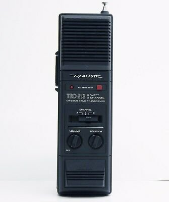 REALISTIC TRC-213 *STRANGER THINGS* CB 2-Watt 3-Channel Walkie Talkie TESTED - $49.99 | PicClick