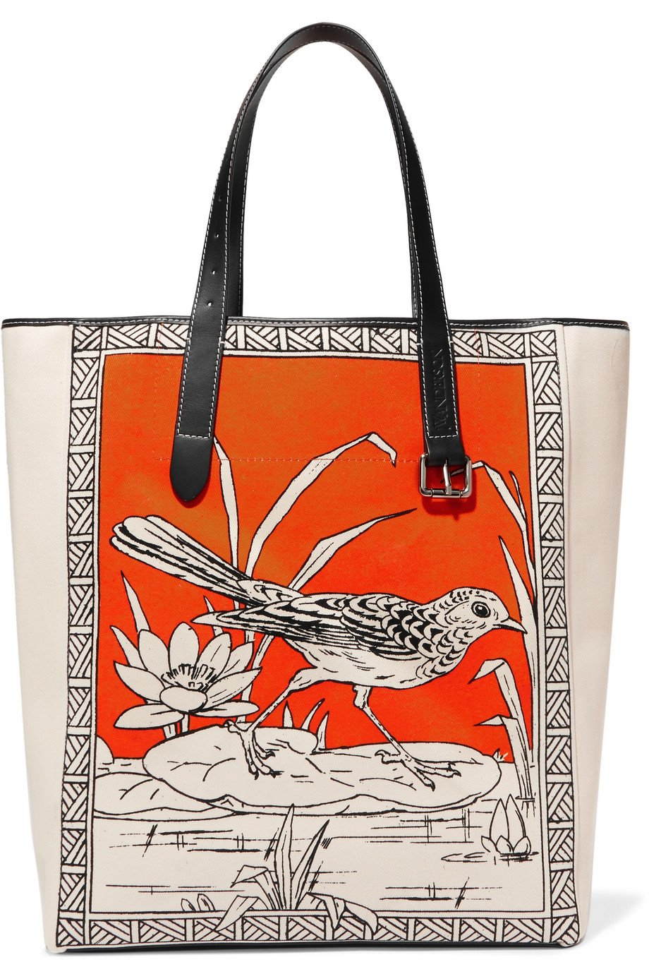 JW Anderson   Leather-trimmed printed canvas tote   NET-A-PORTER.COM