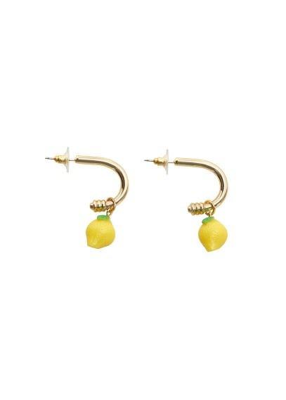 MANGO Resin pendant earrings