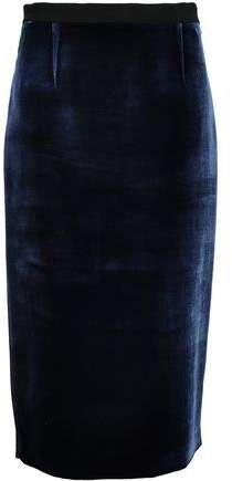 Arreton Velvet And Stretch-crepe Pencil Skirt