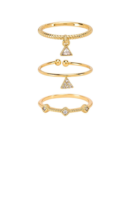 Geometric Ring Set of 3