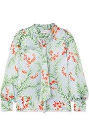Seren | Joni floral-print silk-satin wide-leg pants | NET-A-PORTER.COM