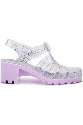 Lavender and Clear Glitter Jellies