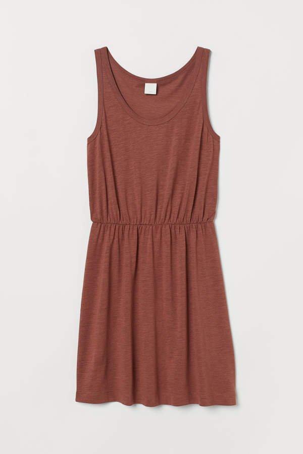 Modal-blend Jersey Dress - Orange