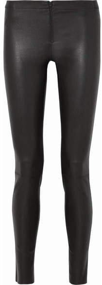 Alice Olivia - Leather Leggings - Black