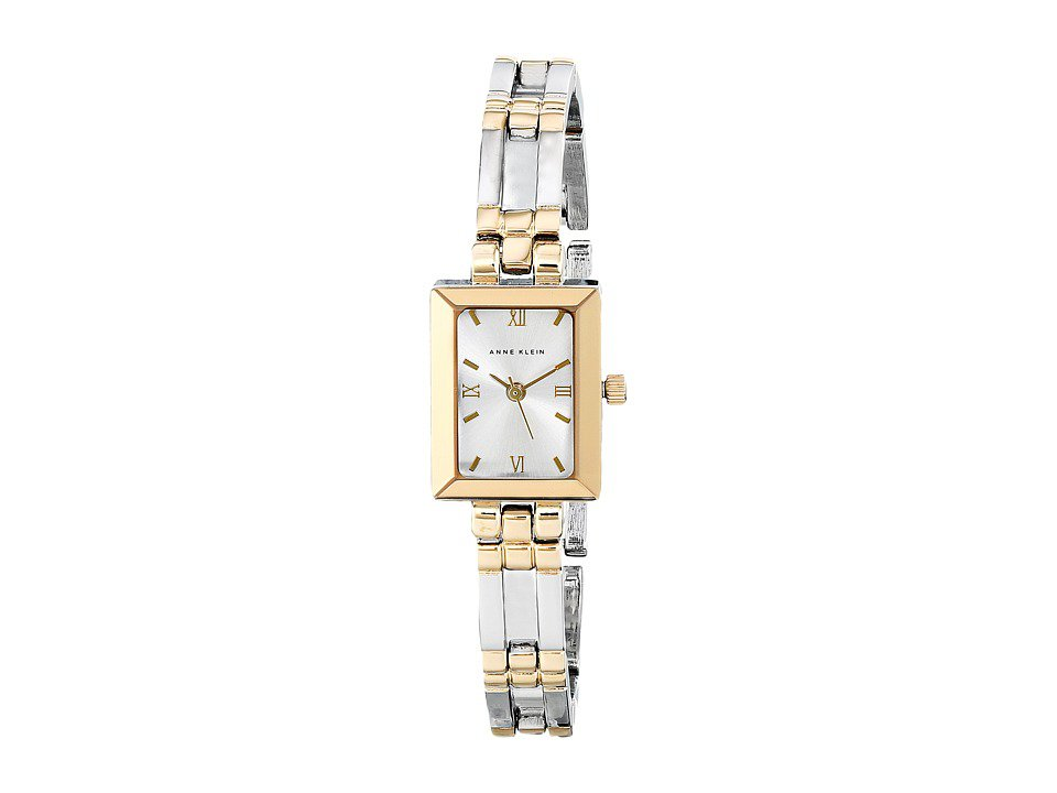Anne Klein - 10-4899SVTT (Silver/Gold Bracelet With Silver Dial) Analog Watches