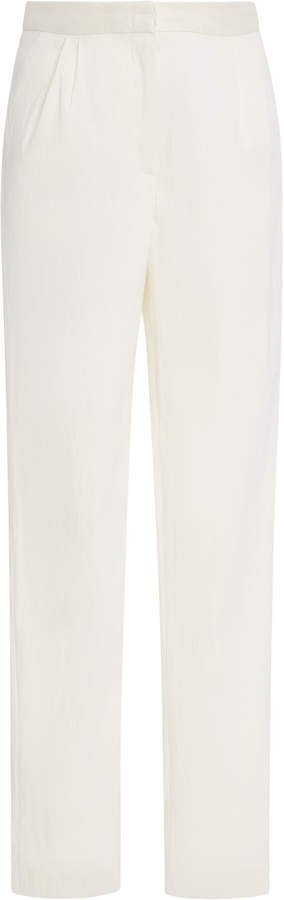 Cropped Twill Tapered Pants