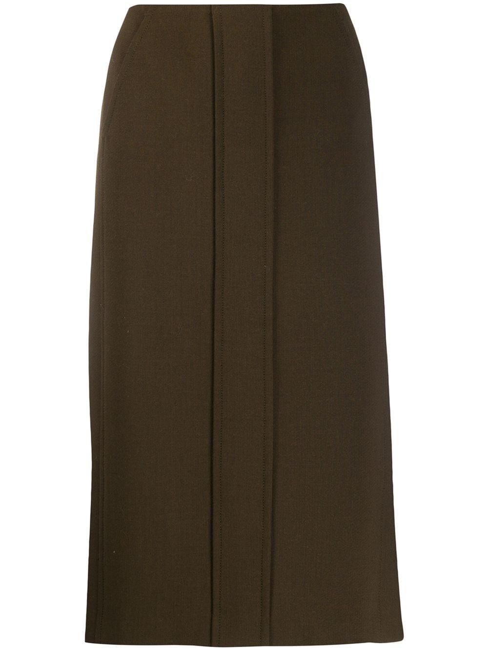 Aspesi High-Waisted Midi Skirt