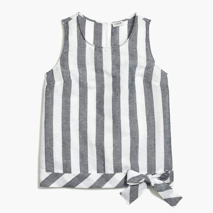 Printed tie-waist tank top
