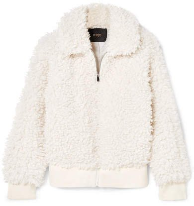 Faux Shearling Jacket - Off-white