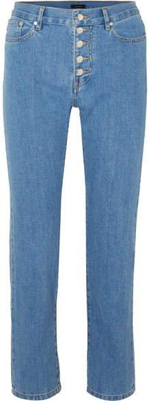 Den High-rise Slim-leg Jeans - Indigo