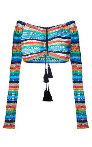 Multi Knit Ruched Beach Top | Swimwear | PrettyLittleThing