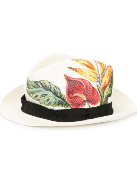 Dolce & Gabbana Anthurium Print Panama Hat - Farfetch