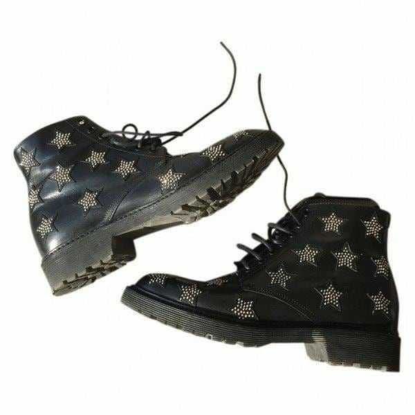 Star-Patterned Boots - @byepolyvore PNG Collection