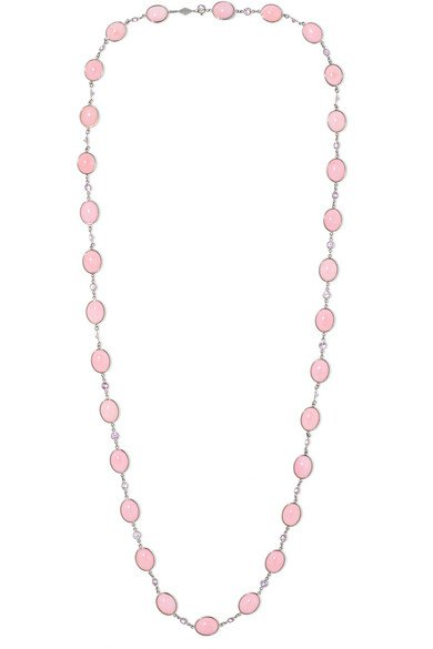 Fred Leighton   Collection 18-karat white gold, opal and sapphire necklace   NET-A-PORTER.COM