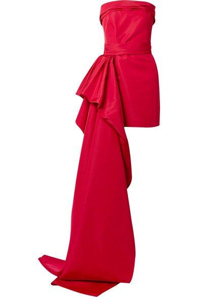 Reem Acra   Silk-faille mini dress   NET-A-PORTER.COM