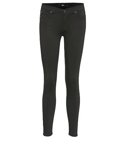Cropped mid-rise skinny jeans