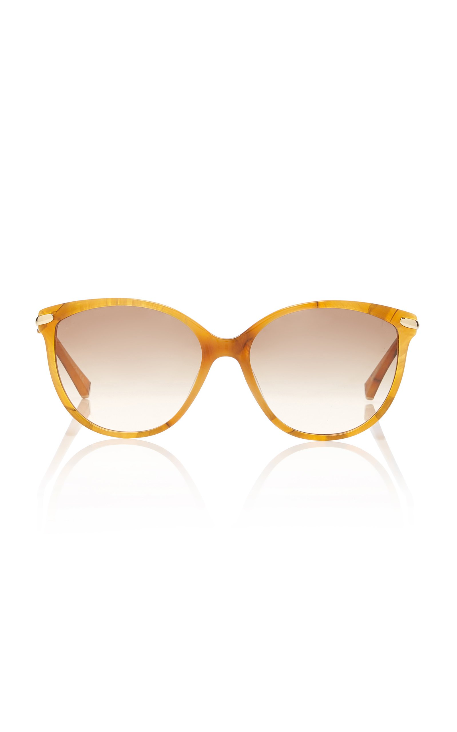 Kate Young Barbara Cat-Eye Marbled Acetate Sunglasses