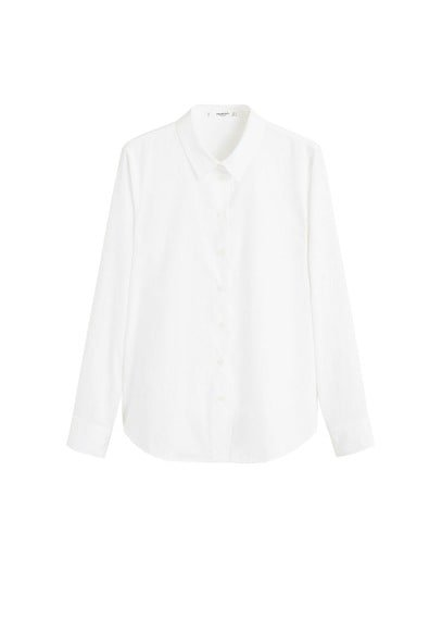 MANGO Essential cotton-blend shirt