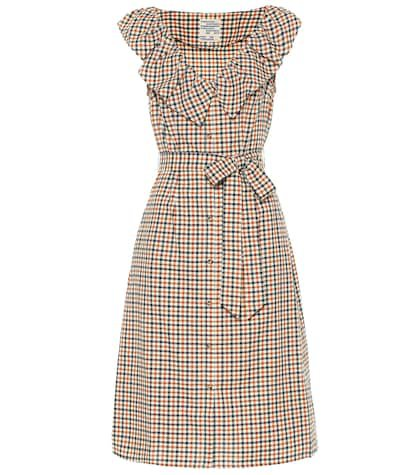 Exclusive to Mytheresa – April checked cotton midi dress
