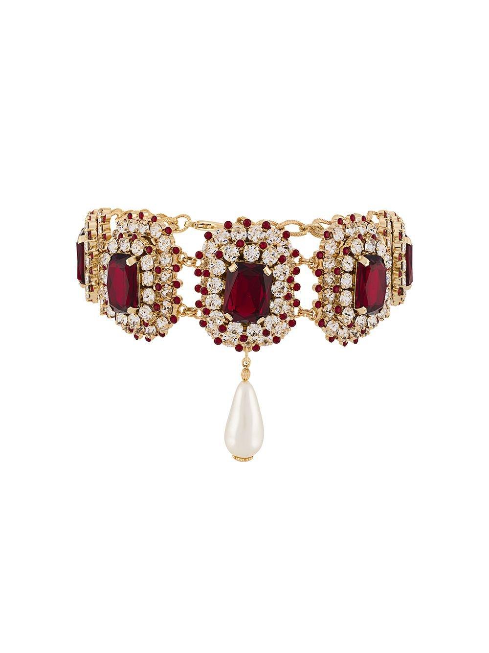 Dolce & Gabbana   glass stone necklace