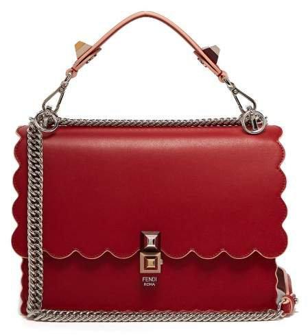 Kan I Leather Shoulder Bag - Womens - Red
