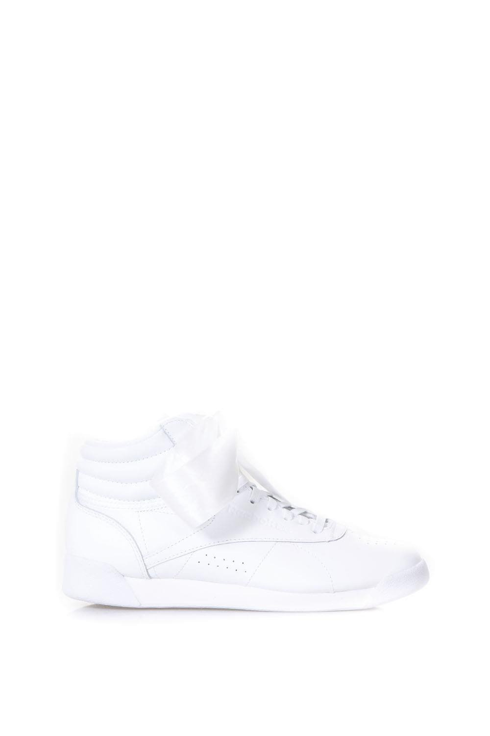 Reebok White Leather Sneakers With Ribbon