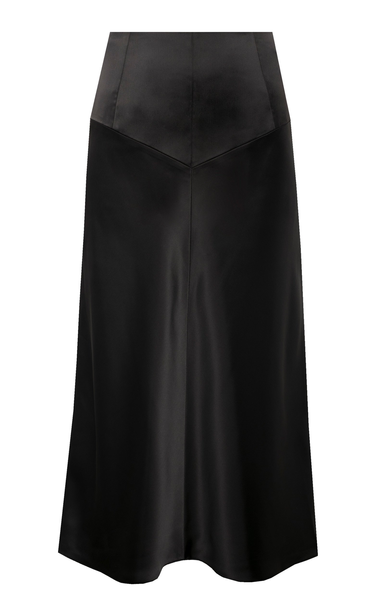 Anna October Bias Cut Satin Midi Skirt