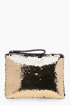 Emily Sequin Clutch Bag